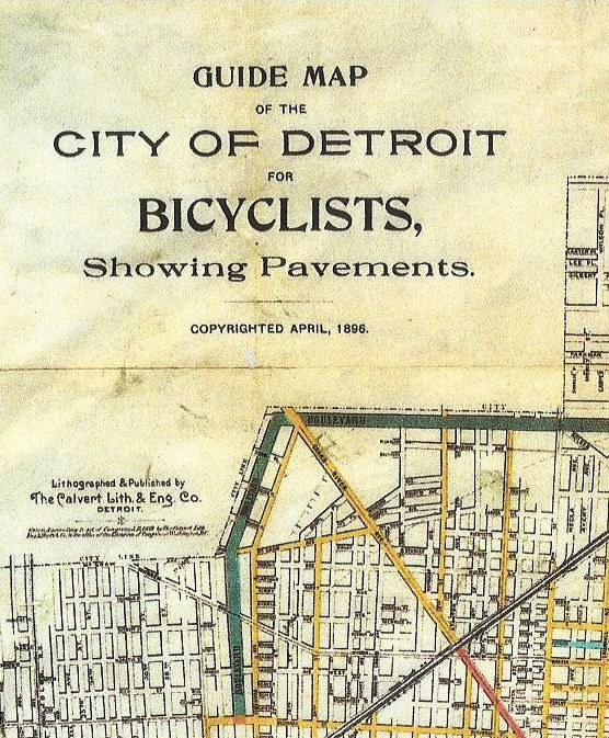 Qa Training Online In Detroit Michigan: Detroit's Grand Bicycle Map Tradition