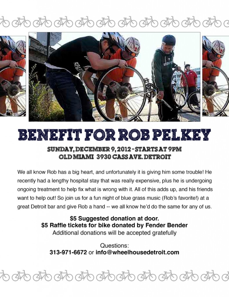 Rob Pelkey Fundraiser on Sunday (9/Dec/12)